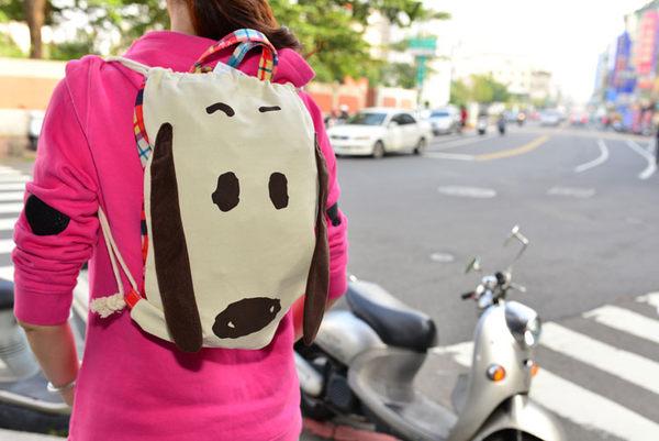 SNOOPY 史努比 立體束口背包 手提袋 日本帶回正版商品