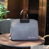 商務公事包女大容量手提包單肩韓版時尚手拎文件袋女士職業電腦包  雙12購物節