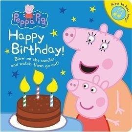 【粉紅豬小妹-佩佩豬生日書】HAPPY BIRTHDAY PEPPA PIG /聲音書+加吹蠟燭
