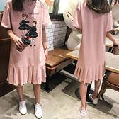 時尚韓版甜美短袖小清新孕婦裝