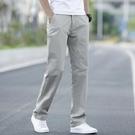 休閒褲男寬鬆彈力男褲百搭夏季薄款黑色長褲男士直筒潮流大碼褲子 依凡卡時尚