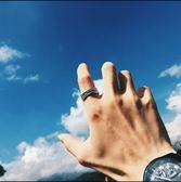 男士霸氣鈦鋼戒指朋克風歐美復古食指做舊指環三角衣櫥