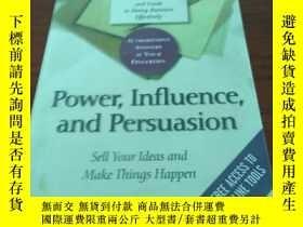 二手書博民逛書店Power,influence,罕見and persuasion