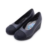 FIRST CONTACT 亮鑽拼接楔形鞋 藍 39606 女鞋 鞋全家福