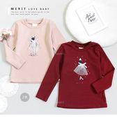 純棉 氣質淑女禮服貼鑽長袖上衣 保暖 蝴蝶結 甜美 粉色 保暖 女童 長袖T恤 哎北比童裝