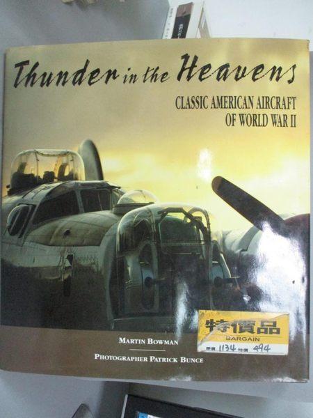【書寶二手書T8/收藏_YBO】Thunder in the Heavens: Classic American Air