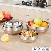 MG 不銹鋼碗湯面碗雙層隔熱碗