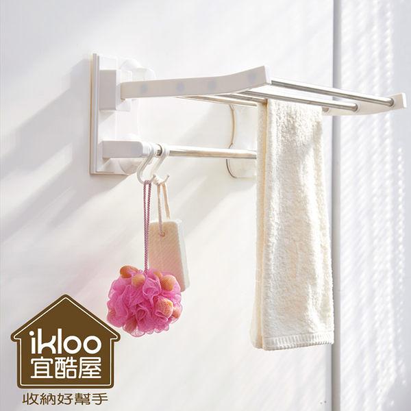 【H&R安室家】Taco無痕吸盤系列-不鏽鋼吸盤衛浴置物架-BRF14