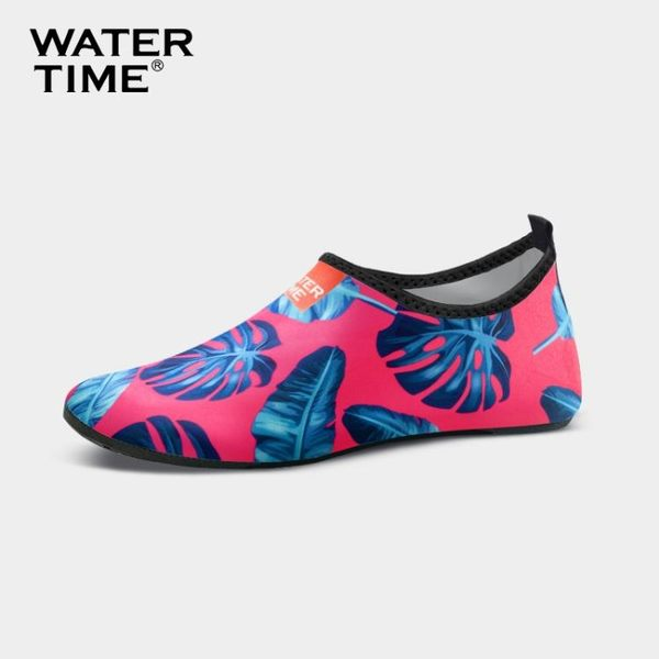 沙灘襪蛙咚男女潛水速干透氣防滑防割印花沙灘鞋海邊浮潛鞋襪溯溪涉水鞋摩可美家