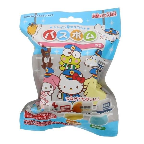 Hamee 日本正版 三麗鷗 可愛小火車造型 炭酸沐浴球 玩具泡澡球 kitty 布丁狗 (隨機角色) 715786N
