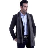 羊毛圍巾-時尚經典菱形格紋秋冬防寒男女披肩2色73ts9【時尚巴黎】