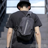 男士包包新款時尚胸包休閒多功能潮小背包學生潮牌單肩斜背包 簡而美