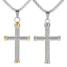 《QBOX 》FASHION 飾品【CHE803】精緻個性歐美復古耶穌十字架鑄造鈦鋼墬子項鍊/掛飾