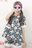 2018夏季新款日系女裝韓版學生日系居家服甜美睡衣套裝兩件套薄款