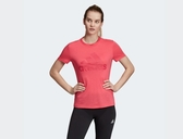 Adidas MUST HAVES BADGE OF SPORT TEE 女款粉色短袖上衣-NO.EB3788