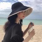 漁夫帽女夏天防紫外線遮陽防曬遮臉日系百搭網紅太陽帽子女韓版潮一米陽光