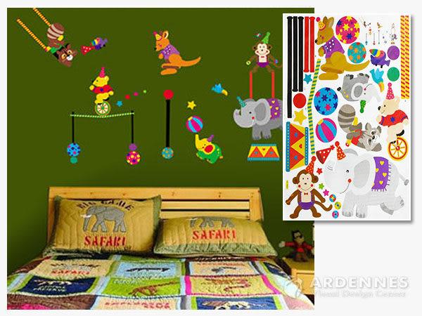 【ARDENNES】創意組合DIY壁貼/牆貼/兒童教室佈置(大) 動物馬戲團
