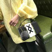 包包女春夏新款韓版百搭簡約學生小清新方包鏈條斜挎單肩包潮