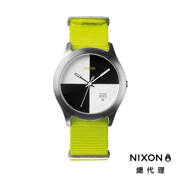 【官方旗艦店】NIXON QUAD 帆布錶帶 螢光黃 潮人裝備 潮人態度 禮物首選