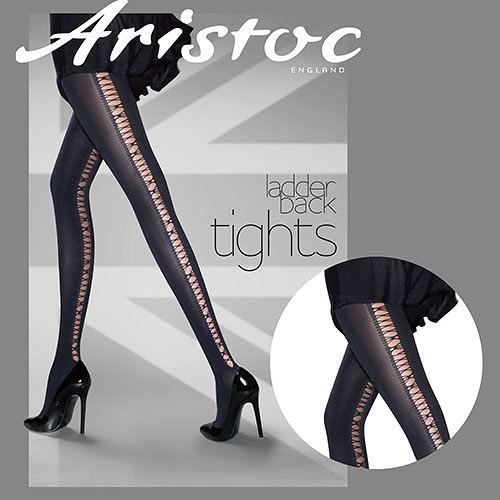『摩達客』英國進口 Aristoc  線縫綁帶印花造型設計褲襪(60113074003)