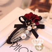 發夾 韓國精品花朵發夾小香風珍珠邊夾發飾水鉆發卡頭飾品M1787