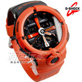 G-SHOCK GA-500P-4A 城市運動獨特流線雙顯腕錶 男錶 橡膠錶帶 紅色x黑 GA-500P-4ADR CASIO卡西歐