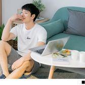 《KL0454-》情侶系列~高含棉HIM刺繡字母短袖上衣(男) OB嚴選