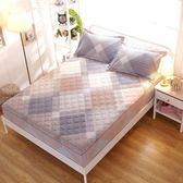 床笠棉質單件加厚夾棉席夢思保護套全棉印花1.8米床墊防滑套1.5m 月光節85折
