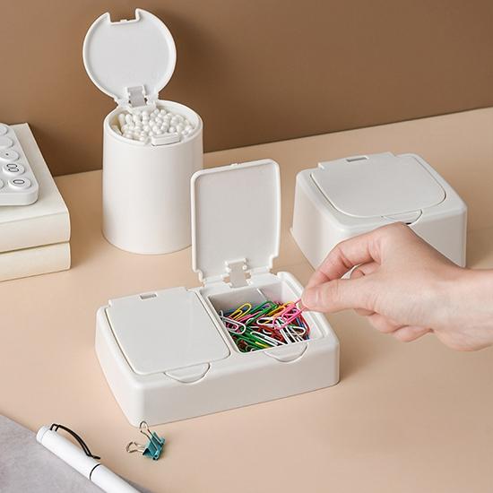 收納盒 分裝盒 整理盒 雙格 置物盒 彈蓋盒 首飾盒 藥盒 文具盒 防塵收納盒【Q132-1】生活家精品