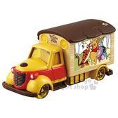 〔小禮堂〕迪士尼 小熊維尼 TOMICA小汽車《黃.電影宣傳車》模型.玩具.公仔 4904810-11413