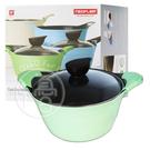 【NEOFLAM】EELA系列陶瓷不沾湯鍋 24cm 附強化玻璃蓋 -蘋果綠【i -優】