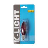 LED 1W 專利小燭泡E12紅光