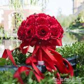手捧花 仿真 婚禮新娘結婚創意手工紅色中式韓式花束影樓拍攝道具 晴天時尚館