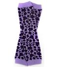 美國 my little legs 手襪套-荷葉邊/泡泡襪/袖套/保暖襪/長統襪/童襪/嬰兒襪-紫色豹豹