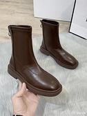 短靴 瘦瘦馬丁靴2020年秋季新款加絨秋冬韓版ins網紅單靴中筒小短靴女 開春特惠