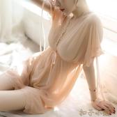 性感睡衣透明網紗女式夏火辣誘惑寬鬆胖mm午夜魅力情趣睡裙 YYJ扣子小鋪
