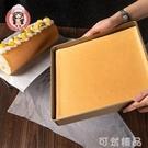 蛋糕捲模具正方形烤盤28×28烤盤烤箱用瑞士捲虎皮家用不沾易脫模 可然精品