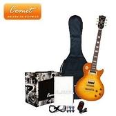 Comet 頂級 Les Paul SBSH1 虎紋電吉他全配備套餐【Comet吉他專賣店/吉他套】