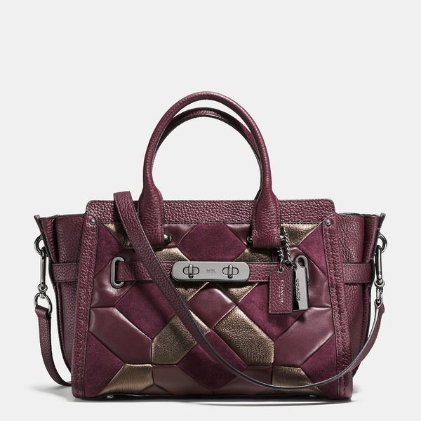 COACH swagger 27 in mixed materials canyon quilt 55512