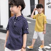 男童襯衫 兒童韓版襯衣中小童薄款上衣