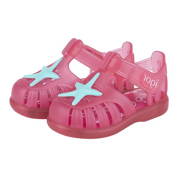 IGOR 夏日海星果凍小童鞋-粉紅/藍