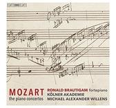 【停看聽音響唱片】【SACD】莫札特:鋼琴協奏曲全集 / 羅納德.布勞提岡 古鋼琴 (12SACD)