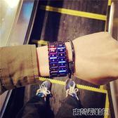 手錶 手錶男中學生韓版簡約休閒潮流鋼帶防水個性創意青少年男生潮男錶 古梵希