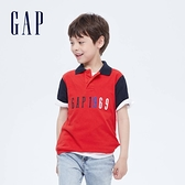 Gap男童 Logo純棉網眼布POLO衫 682086-紅色