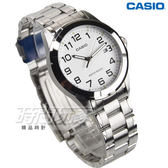 CASIO卡西歐 MTP-1215A-7B2 數字簡約時尚指針男錶 防水手錶 日期視窗 學生錶 白面 MTP-1215A-7B2DF