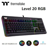 Thermaltake 曜越 Level 20 RGB 機械式 雷蛇軸 電競 有線 鍵盤 (KB-LVT-RGBRUS-01)