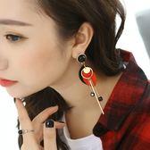 耳環韓國氣質長款吊墜女簡約木頭耳釘百搭流蘇耳飾品耳環耳墜
