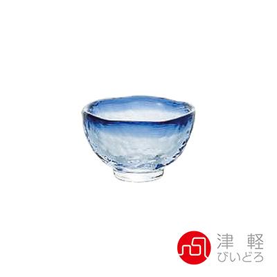 日本津輕 耐熱清酒杯40ml-藍 品酒必備 小酌 清酒 日式清酒 耐熱玻璃杯 好生活