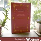 思考手札-方眼筆記本B5/紅【W2Design】