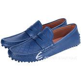GUCCI 經典鑽石紋豆豆休閒鞋(藍色) 1440246-23